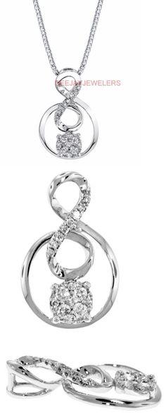 Diamond 164331: Diamond Pendant Slide Necklace 18K White Gold 0.24Ct Vs1 BUY IT NOW ONLY: $571.5