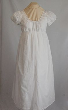 Classical White Regency Dress