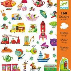 This Djeco Stickers pack is called 'Let's Go' and it features lots of animls taking a journey. There are 160 children's stickers in the packet.