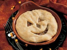 Pizza Pot Pies with a Halloween theme!
