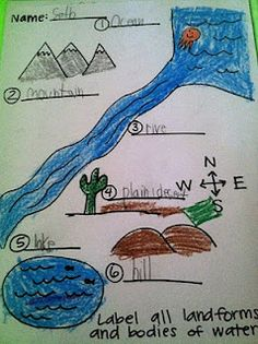 Adventures of First Grade: more Kevin Henkes and Landforms. Students color and label each landform on the worksheet. Social Studies Lesson Plans, Kindergarten Social Studies, 5th Grade Social Studies, Social Studies Resources, Kindergarten Science, Teaching Social Studies, Student Teaching, Teaching Ideas, Teaching Science