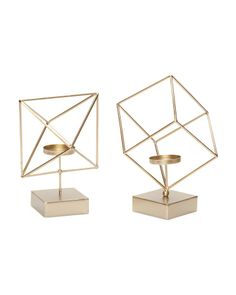 Set Of 2 Candle Holders - Mid-century Modern - T.J.Maxx
