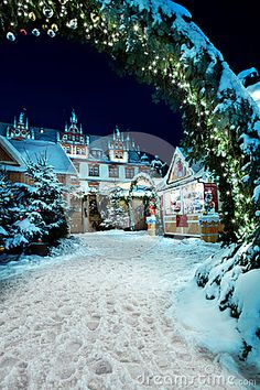 Christmas market  by night in Coburg, Germany  Copyright: Val_th