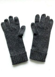 Cashmere w merino knit gloves - Dark Gray