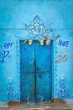 INDIA: Blue Door in Southeast India