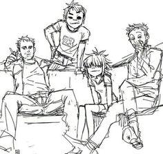 Noodle, Jamie, Damon y 2D