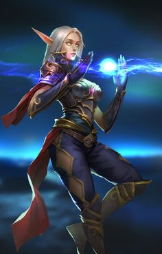 """""""Uh, well I play a blood elf mage. Dnd Characters, Fantasy Characters, Female Characters, Fantasy Races, Fantasy Warrior, Warcraft Art, World Of Warcraft, Fantasy Women, Fantasy Girl"""