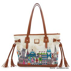 """new Dooney and Bourke Disney print, """"it's a small world"""""""