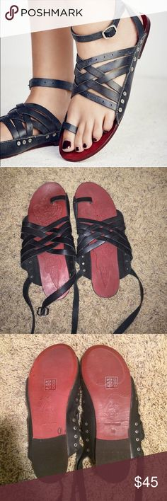 Free people Belize sandal Super cute free people Belize sandal! These are perfect for summer! Worn once, excellent condition. They are a 39 which is similar to a 9, but fit like an 8. I am a true size 8 and they fit me great! Free People Shoes Sandals