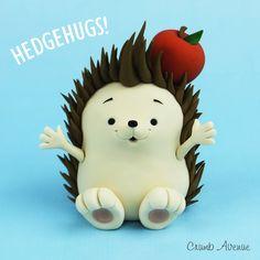 Fondant / gum paste hedgehog FREE tutorial
