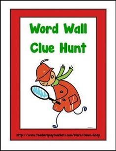 "FREE LANGUAGE ARTS LESSON - ""Word Wall Clue Hunt"" - Go to The Best of Teacher Entrepreneurs for this and hundreds of free lessons. Kindergarten - 2nd Grade    #FreeLesson     #LanguageArts     http://www.thebestofteacherentrepreneurs.org/2016/07/free-language-arts-lesson-word-wall.html"