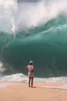 Waimea Bay, Oahu, Hawaii....... I would RUNNN!!!!