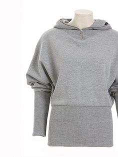 Schnittmuster: Kapuzensweater - sportiv & Rippenjersey - Pullover & Cardigans - Damen - burda style