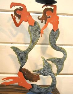 3 Mermaids Candle holder