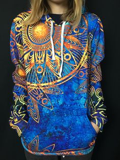 Gold BOHO Unisex Pullover Hoodie - Electro Threads™