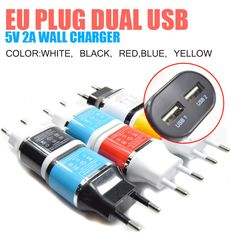 2 port usb wall charger 2a