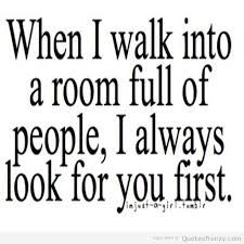 I do this a lot. But what's nice to know is he is always looking for me to.