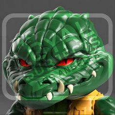 ToyzMag.com » Leatherhead Action Vinyl serie 2 Tortues Ninja