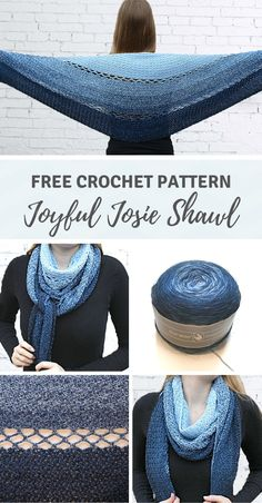 Joyful Josie Shawl - a free crochet pattern on wilmade.com including video. #crochet #shawl #scarf #wrap #free #pattern #durable #scheepjeswhirl #scheepjes #hobbii #wolltraum