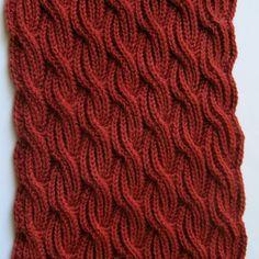 Knit Scarf Pattern:  Brioche Cabled Turtleneck Scarf Knitting Pattern. $6.50, via Etsy.