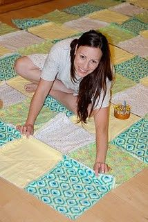 How To: Make a T-Shirt Quilt- perfect for all those old baseball shirts hanging around our house! How To: Make a T-Shirt Quilt- perfect for all those old baseball shirts hanging around our house! Fabric Crafts, Sewing Crafts, Sewing Projects, Cute Crafts, Crafts To Do, Rag Quilt Patterns, Patchwork Quilt, Do It Yourself Baby, Diy Vetement