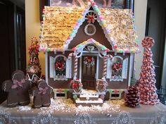 Gingerbread Dollhouse.  Not edible but then it will last forever.  I love this.