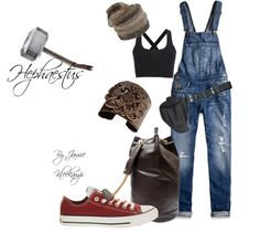 This casual outfit was inspired by Cabin #9: Hephaestus. Anyone that is a fan of greek mythology or the Percy Jackson series would enjoy this look.