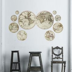 Antique #Maps Wall Decals