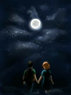 Love Couple Images, Cute Couple Art, Anime Love Couple, Cute Love Wallpapers, Cute Cartoon Wallpapers, Book Cover Background, Cartoons Love, Moon Lovers, Sky Art
