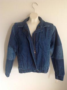 b7c544536c1 Vintage 80s Unisex Jean Jacket Size Medium New Unworn