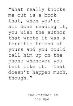 The Catcher in the Rye - J.D. Salinger. Definitely a favourite. ♥