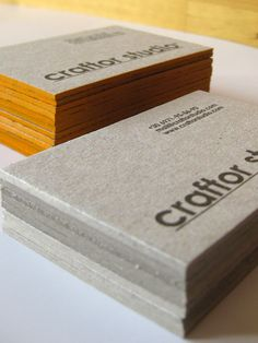 The best 65 business cards of the year the final collection craftor hand made edge colored business cards printed on 2mm thick cardboard stock colourmoves