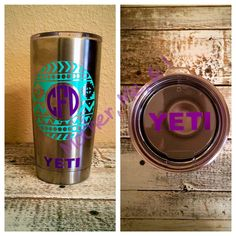 Monogrammed Aztec Decal for Yeti Cup by MotherMeI on Etsy