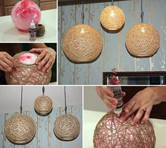 How to Make Hemp Twine Ball Lamp