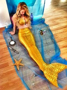 Sequined Mermaid Tail by MandBSwimwear on Etsy, $249.99