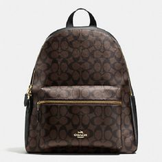 eaaa739ae New Authentic Coach Charlie Signature PVC Backpack Double Shoulder Bag  Brown Black