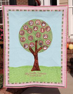 Family Tree Quilt Wall Hanging Custom Made by MyAddibel on Etsy, $300.00