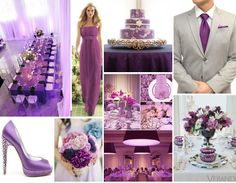 ♥ Collage ideas ♥  Decora tu boda con el color del año  orquídea radiante. #MiBoda #LosCabos