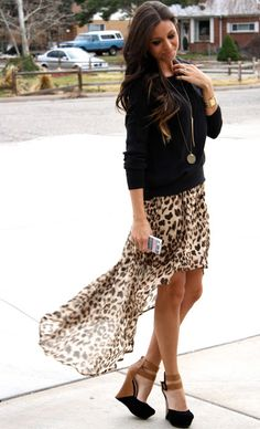 hi-low skirt and those shoes!