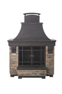 Amazon.com : Sunjoy L-OF134PST-B Jasper Fireplace : Patio, Lawn & Garden