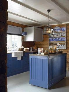 stylish scandinavian cottage design,log cabin design in Norway Cabin Kitchens, Cottage Kitchens, Wood Interiors, Cottage Interiors, Scandinavian Cottage, Log Cabin Designs, Cuisines Design, Modern Kitchen Design, Modern Kitchens