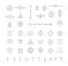 Satz von Vektor-moderne Geometrische Symbole. Lizenzfreies vektor illustration
