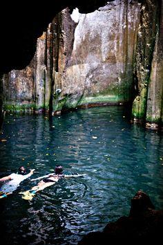 Visiting the blue lagoon caves in Fiji. Holiday at Yasawa Island Resort & Spa. holidayswithkids.com.au/feature_stories/fiji