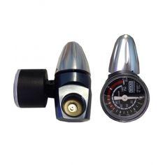 Riduttore di pressione C02 a basso profilo per bombole con attacco ACME
