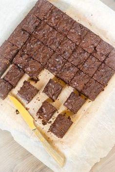 Chocolade brownie recept. Snel recept voor echte chocolade brownies. Met noten en pure chocolade. Ongeveer 40 minuten in de oven bakken. Traktatie ten top.