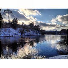 Bluebird January day in Spokane.