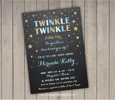 twinkle twinkle invitation / twinkle twinkle baby by DreamyDuck