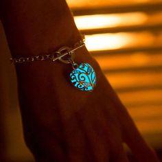 Glow in the Dark Heart Bracelet
