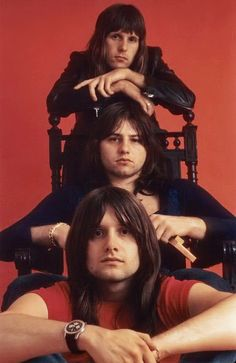 Keith Emerson, Greg Lake, Carl Palmer. Their debut was released in the US in January 1971.