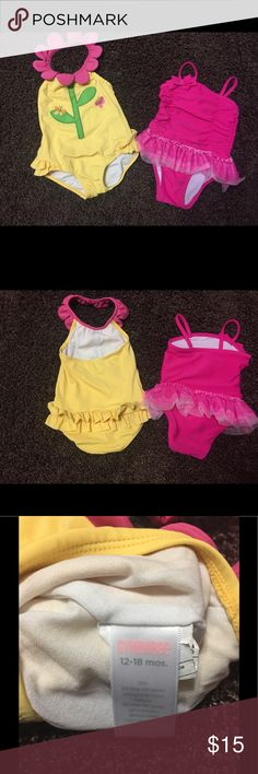 Gymboree and Circo Infant swimsuits Size 12-18. These are 2 super cute infant swimsuits. Gymboree(flower) is 12-18 mos. Circo (pink) is 12 mos. Both were worn two time Gymboree Swim One Piece